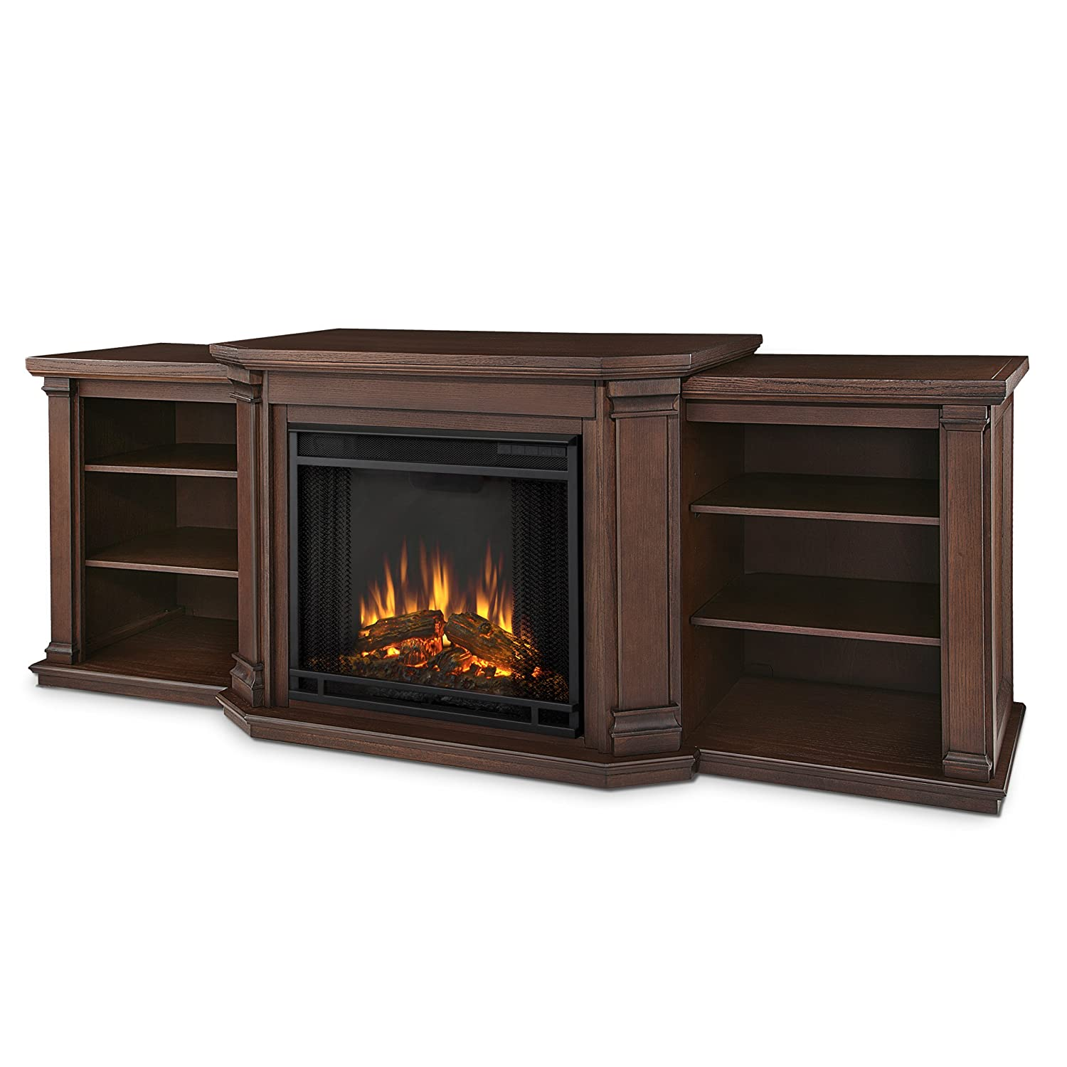 Real Flame Valmont Entertainment Electric Fireplace in Chestnut Oak Finish