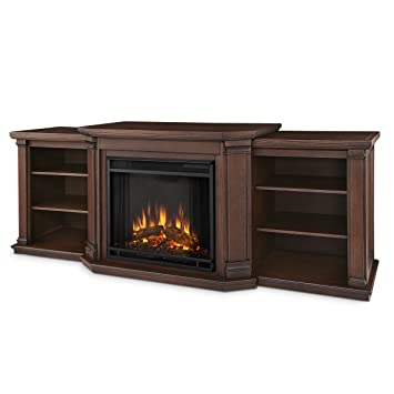 Amazon.com: Valmont Entertainment Electric Fireplace in Chestnut ...