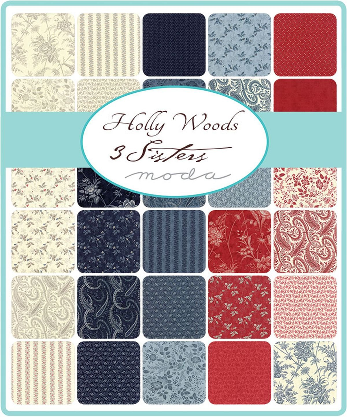 Holly Woods Mini Charm Pack by 3 Sisters; 42-2.5 Precut Fabric Quilt Squares
