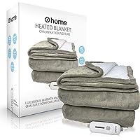 "Premium Heated Blanket, Ultra Soft, 62""x 84"" (Queen Size), Grey, Electric Blanket, Plush Blanket, Heated Throw Blanket…"