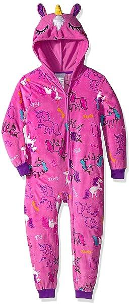 Komar Kids Big Girl s Unicorn Hooded Blanket Sleeper Sleepwear ... 6f1372fc0