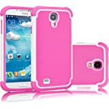 Galaxy S4 Case, Tekcoo(TM) [Tmajor Series] [White/Pink] Shock Absorbing Hybrid Rubber Plastic Impact Defender Rugged Slim Hard Case Cover Shell For Samsung Galaxy S4 S IV I9500 GS4 All Carriers