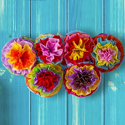 Amazon cinco de mayo decorations fiesta tissue pom paper cinco de mayo decorations fiesta tissue pom paper flowers mexican party supplies 16quot mightylinksfo