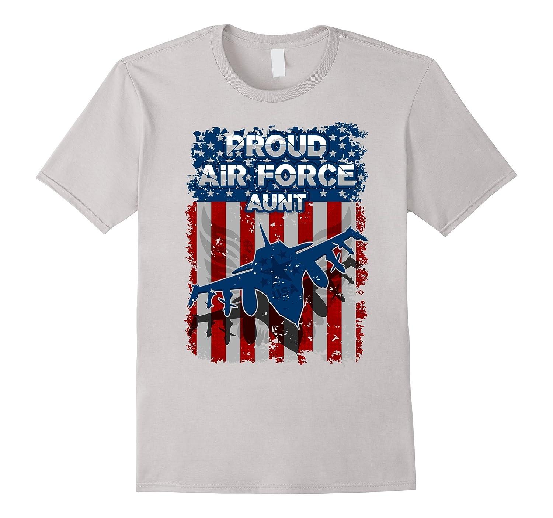 Proud Air Force Aunt Freedom Flag T-shirt-Vaci