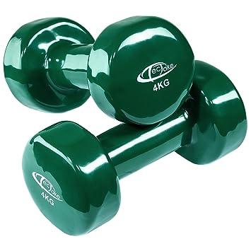TecTake Conjunto de mancuernas de vinilo pesas aerobic | Superficie antideslizante | Varios modelos (4kg | verde | no. 402361): Amazon.es: Deportes y aire ...