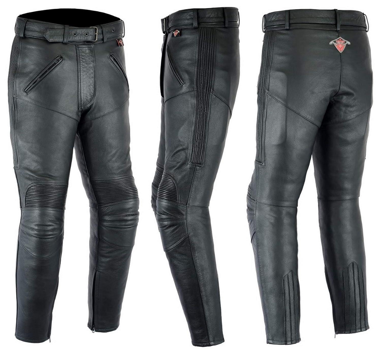 Cuir de Vachette Tour de Taille 40 Longueur 30 Pantalon de Moto Texpeed pour Femme EU48 avec Renforts Amovibles CE