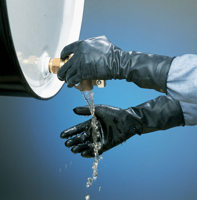 Chemical Resistant Glove, 13 mil, Sz 8, PR