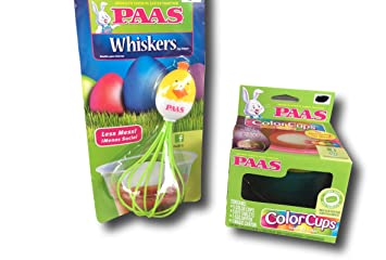 Less Mess Dying Easter Eggs Paas Egg Dipper Whiskers Pink Bunny /& Green Duck Set of 2