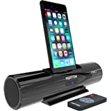 AZATOM iFlute 2 Docking station speaker with 8pin Lightning for iPhone X, 8, 8plus, 7, 7plus, 6s, 6plus, 5s, 5c, 5, SE - iPod Touch 5,6,7 - Remote Control - Unique Design - Rich Sound (Black)