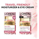 L'Oreal Paris Skin Care Age Perfect Rosy Tone Eye Brightener & Travel Size Face Moisturizer Anti-Aging Skin Care Set, 1…
