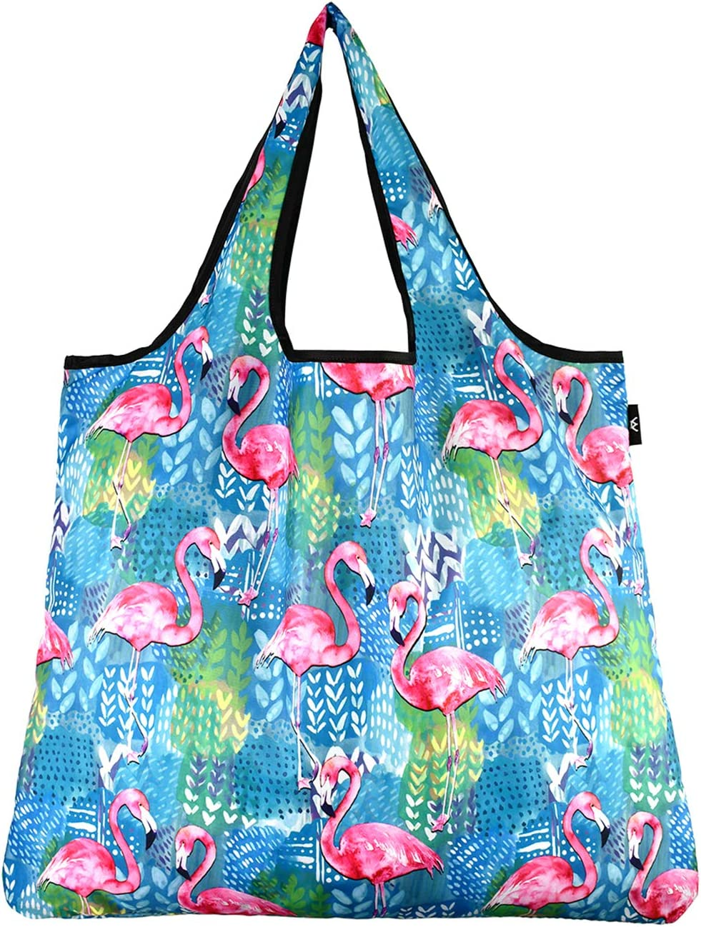 30 x 34cm  12 x 13in brunch or library bag shopping perfect for life on the go meetings Japanese knot bag in Flamingo design fabric