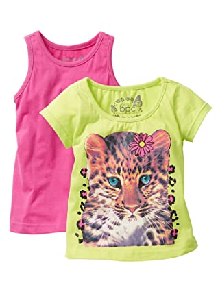 d2c5d2ef161 bpc bonprix collection Girls' Animal Print Round Collar Short Sleeve T-Shirt  Multicoloured Multicoloured