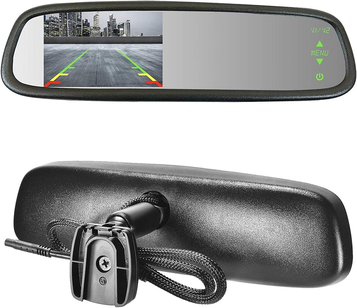 Master Tailgaters Sleek Rear View Mirror with Ultra Bright 4.3