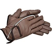 Riders Trend Embossed Synthetic PU Riding Gloves