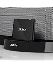 Adaptador de receptor de música bluetooth inalámbrico para Bose SoundDock, JBL, PHILIPS Lightning Dock Speaker con puerto de 8 pines. Proporciona un alcance inalámbrico extra largo y un sonido claro