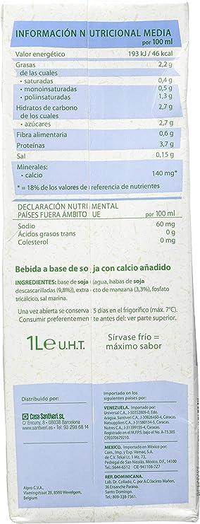 Santiveri Bebida Soja Calcimel 1 Litro Envase De 1 Litro - 100 g