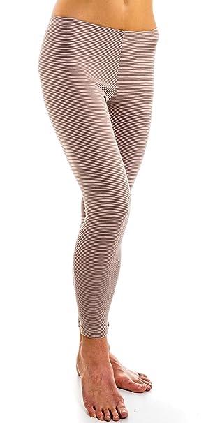 26ca4058f22fdc HERMKO 1672005 warme Damen Thermo-Leggings in Ringel-Optik