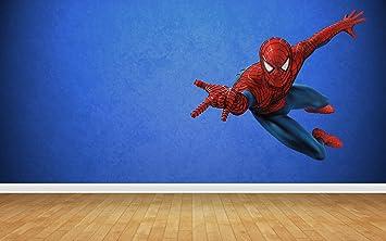 Spiderman Wall Stickers Art Decal Vinyl Boys Bedroom Amazoncouk - Spiderman wall decals uk