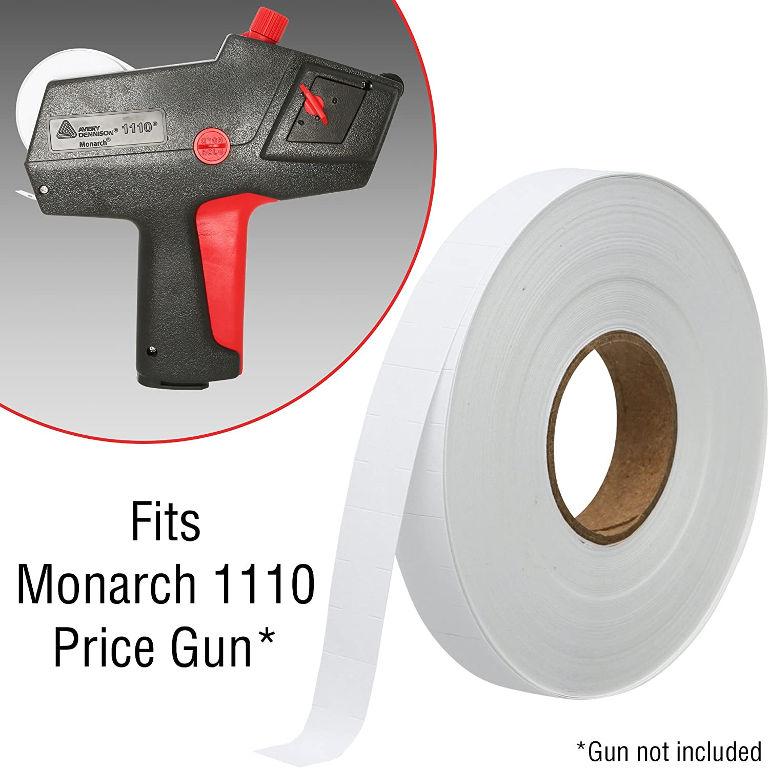 Monarch Price Gun 1110 Grocery Labels 1 SLEEVE =16 Rolls PLUS FREE INK /& SHIP