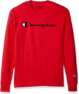258f6d334b57 Champion Men's Long Sleeve Crewneck T Shirt: Amazon.co.uk: Clothing