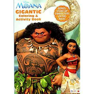Disney - Moana - Gigantic Coloring & Activity Book - 200 Pages: Toys & Games