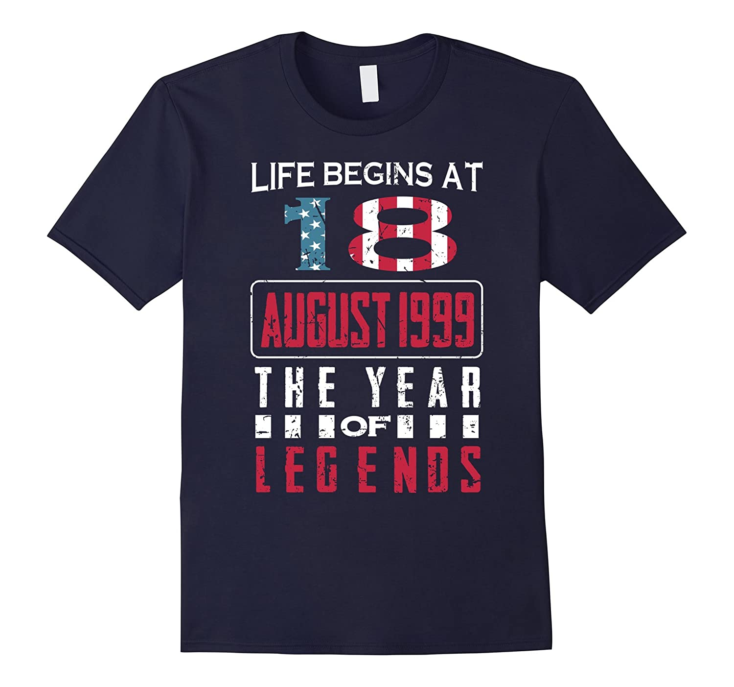 18th Birthday Born in August 1999 Year of Legends T-Shirt-Art