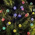 Luci di Natale, Emoonland 6 Metri Luci Natalizie con 30 Palline in Rattan per Festa, Natale, Matrimonio, Compleanno, Decorazioni Natalizie [Classe di efficienza energetica A+]