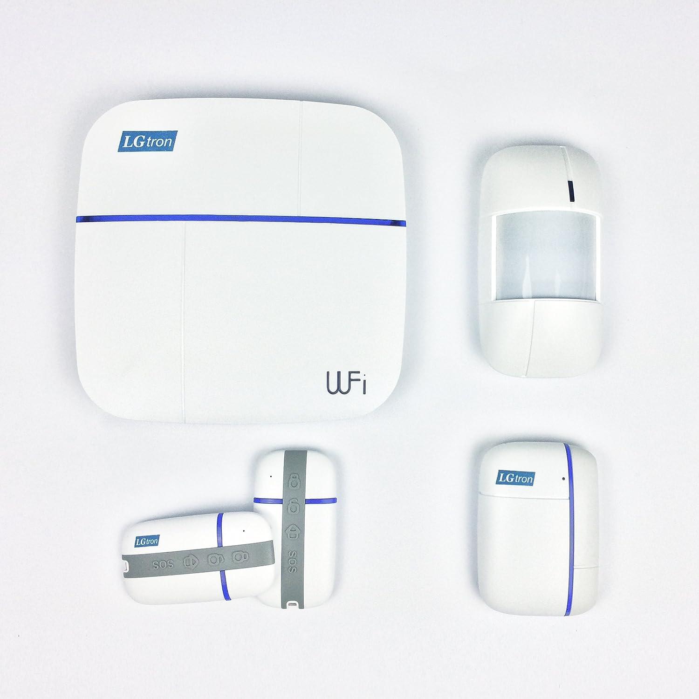 LGtron WLAN WIFI GPRS GSM Funk Alarmanlage LGD8006, 868 MHz, 2 Wege ...