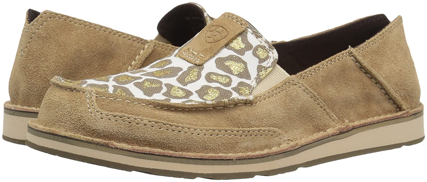 Ariat Women's Cruiser Slip-on Shoe Taupe B071P9J142 8.5 B(M) US|Dirty Taupe Shoe Suede/Sparklin' Leopard 2ab64f