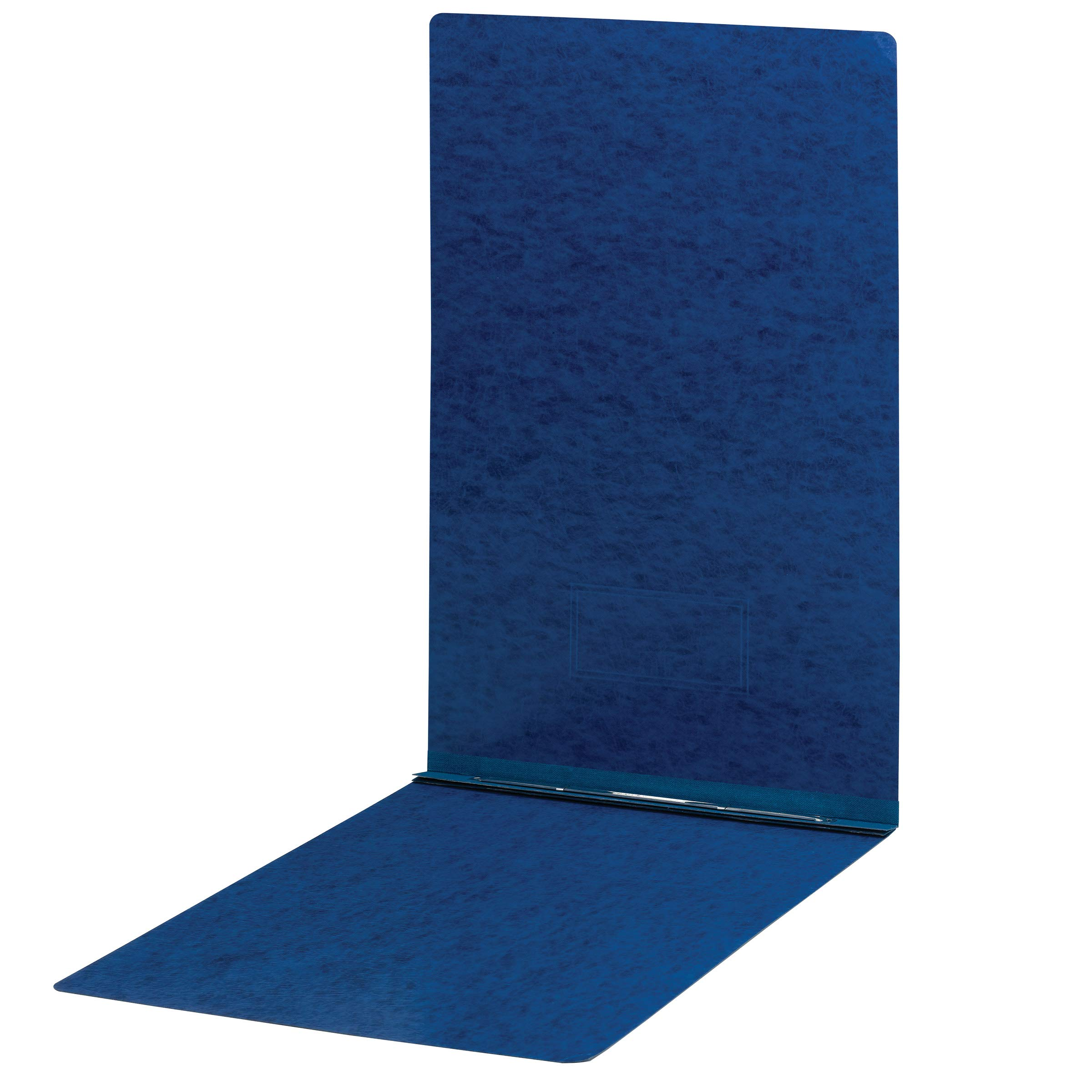 Smead PressGuard Report Cover, Metal Prong Top Fastener with Compressor, 3'' Capacity, Sheet Size 11'' x 17'', Dark Blue, 10 per Box (81378) by Smead