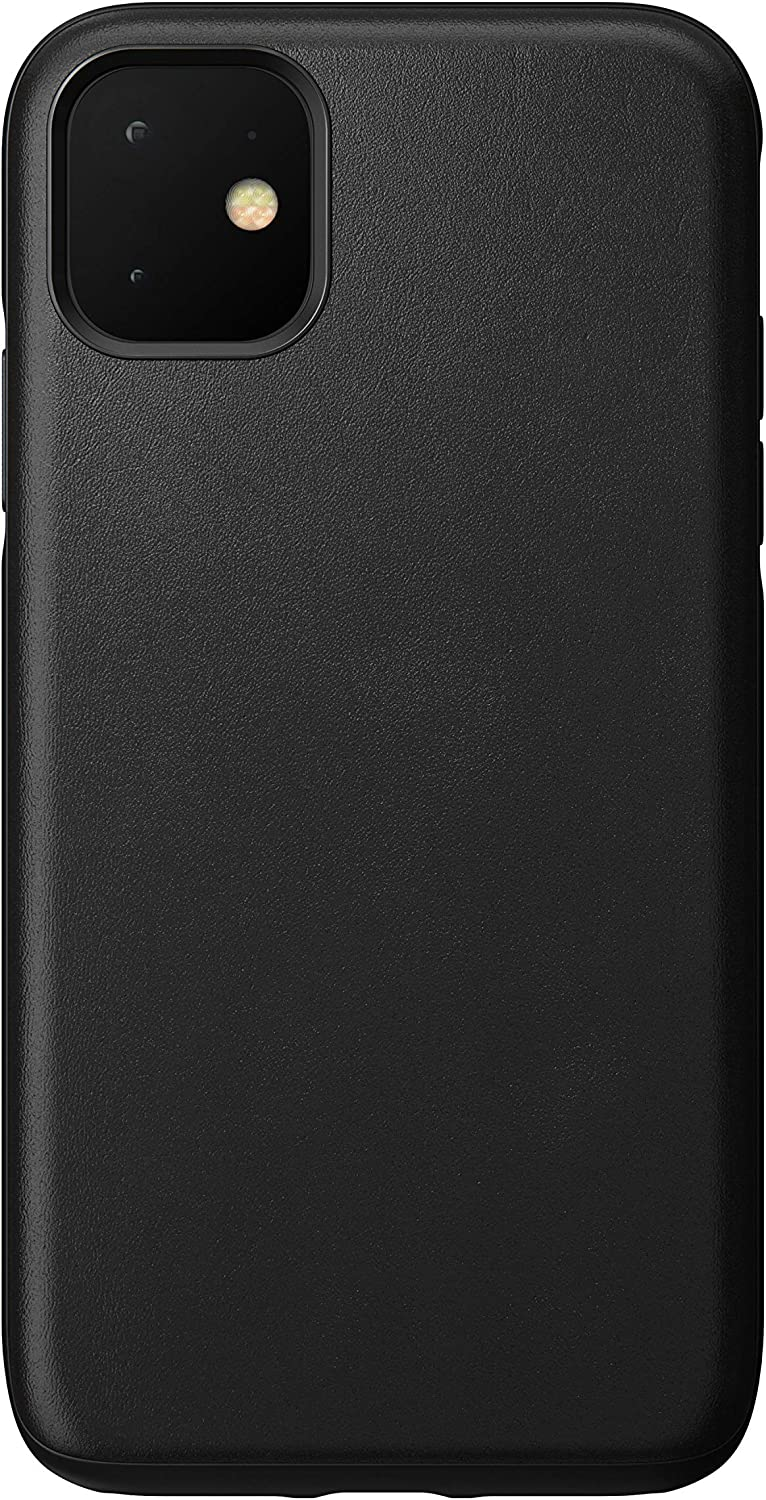 Nomad Rugged Case for iPhone 11 | Black Horween Leather