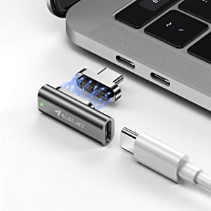 ELECJET MagJet S, 20 Pin Magnetic USB C Adapter, 100W Fast Charging,10 Gbps Data Transfer, RJ45 Gigabit Ethernet Connection, 4K Video @ 60Hz for New MacBook Pro/Air and Any USB C Devices