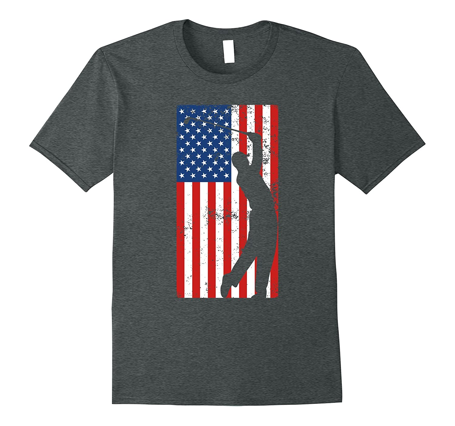 4th of July Golf T-shirt – Distressed Flag