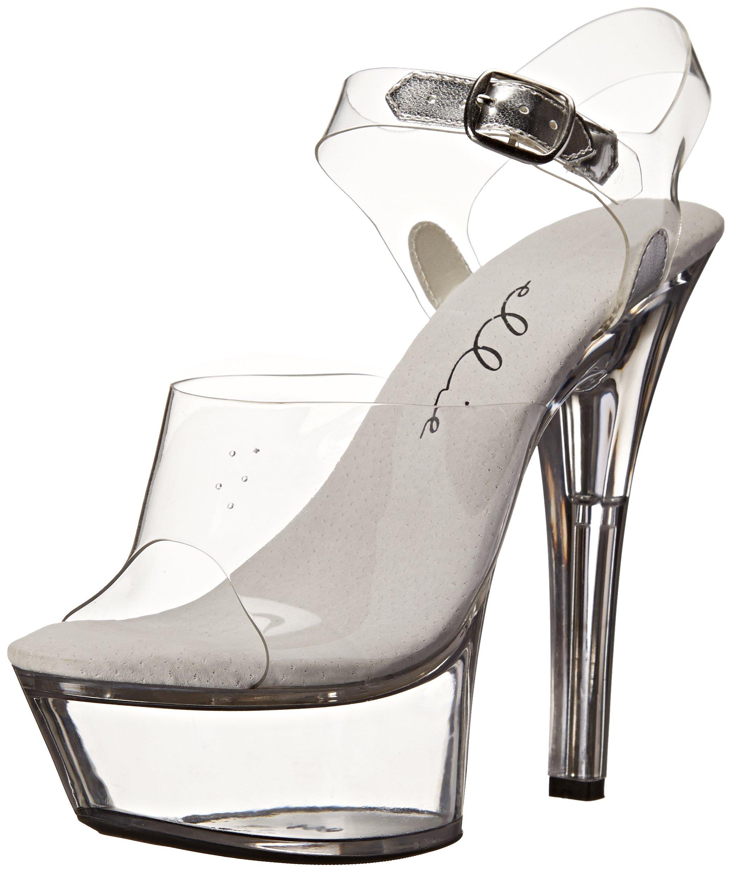 Ellie Shoes Women's 601-Brook, Clear, 9 M US