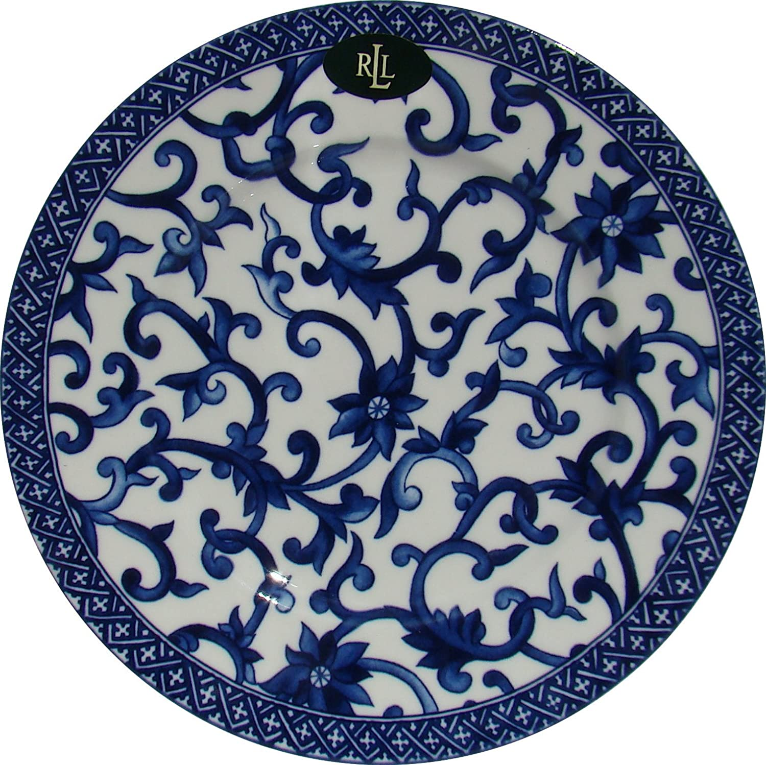 Amazon.com | Ralph Lauren Mandarin-Blue Salad Plate Fine China Dinnerware Ralph Lauren Mandarin Blue White Porcelain Salad Plates  sc 1 st  Amazon.com & Amazon.com | Ralph Lauren Mandarin-Blue Salad Plate Fine China ...