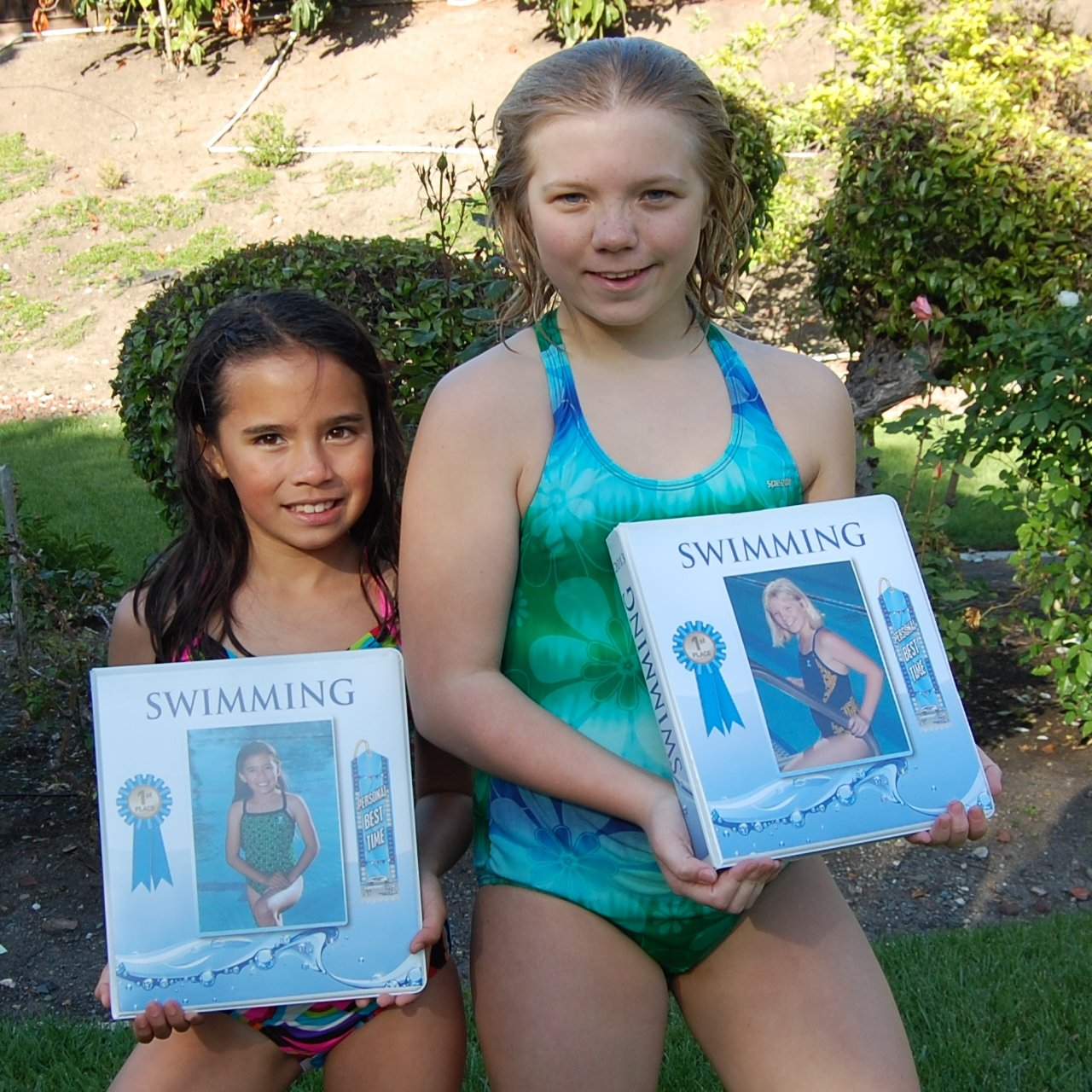 Swimming Award Ribbon BINDER Album Organizer with 15 pages Album Holder Display Gift Track and Field Gymnastics by Mercurydean (Image #7)