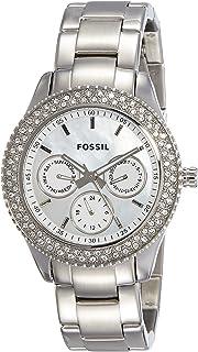 8598e8478912 Fossil Reloj Analógico para Mujer de Cuarzo con Correa en Acero Inoxidable  ES2860