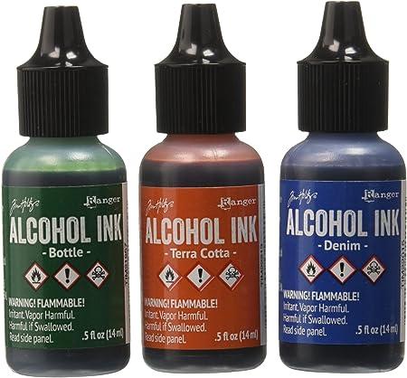 Set of 3 Tim Holtz Ranger Alcohol Inks Rustic Lodge
