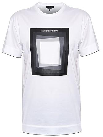 Emporio Carré T Shirt Mens Blanc Armani Medium Ea wOEqXOr