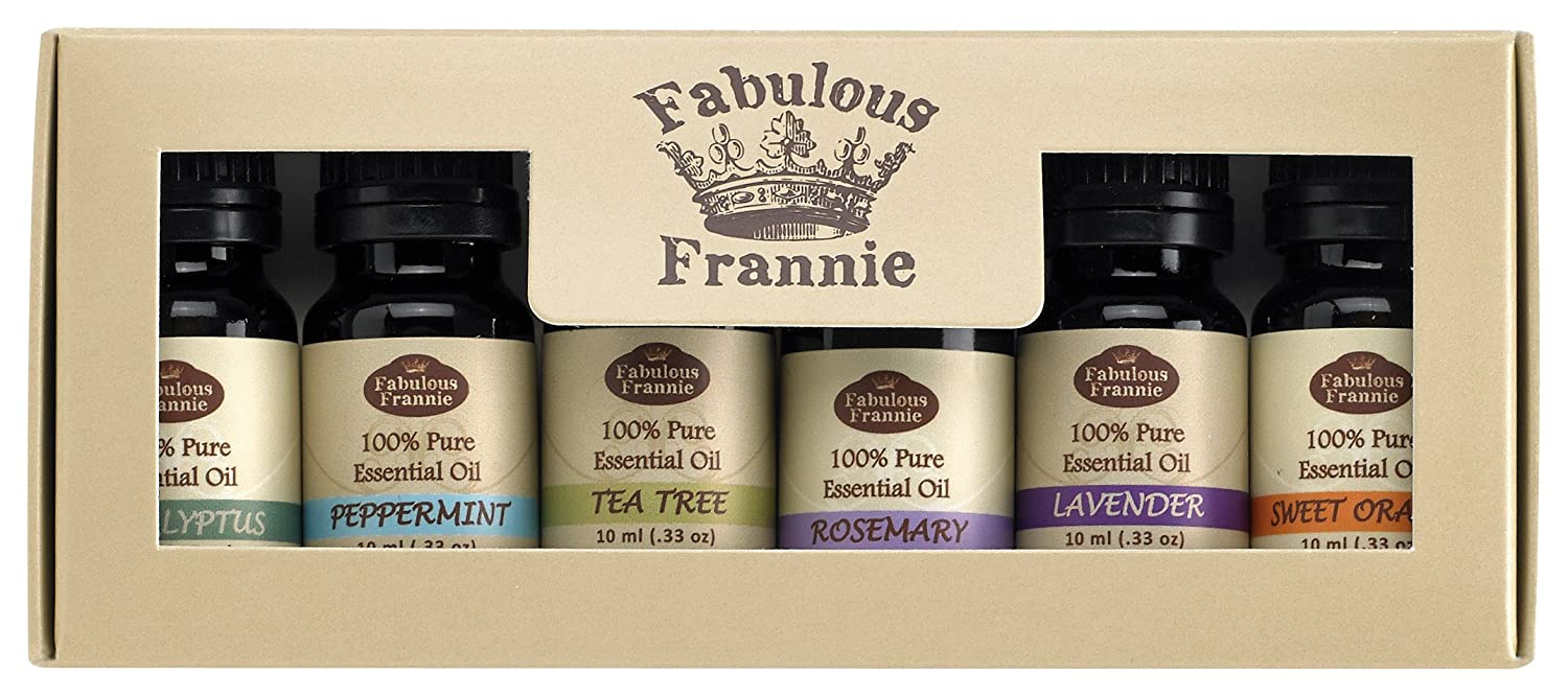 Essential Oil Basic Sampler Set 6/10ml - 100% Pure Therapeutic Grade - Great for Aromatherapy No Model