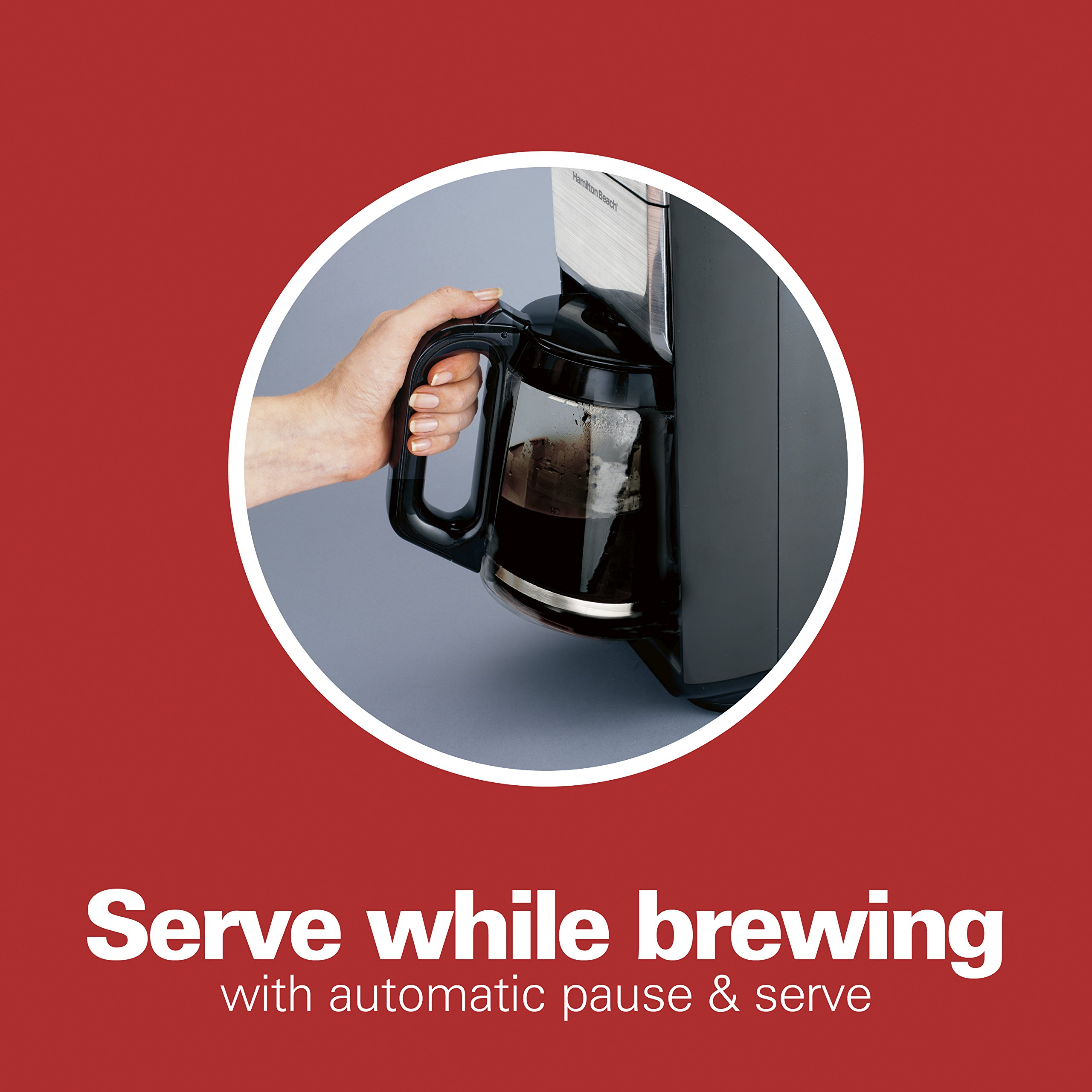 Hamilton Beach (46205) Coffee Maker, Programmable with 12 Cup Capacity, Stainless Steel by Hamilton Beach (Image #3)