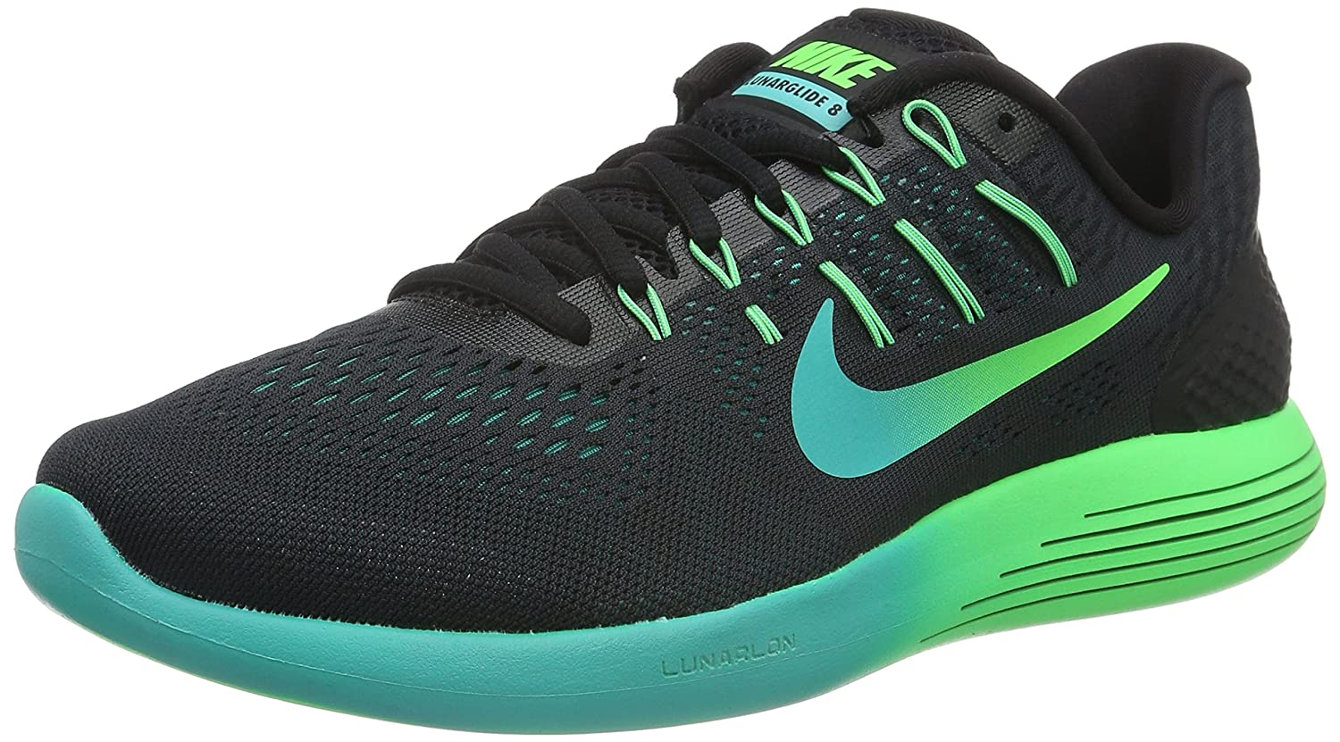 Nike Mens Lunarglide 8, Black / White - Anthracite B019DF4KM6 11 D(M) US|Black/Multi-color-rio Teal-clear Jade