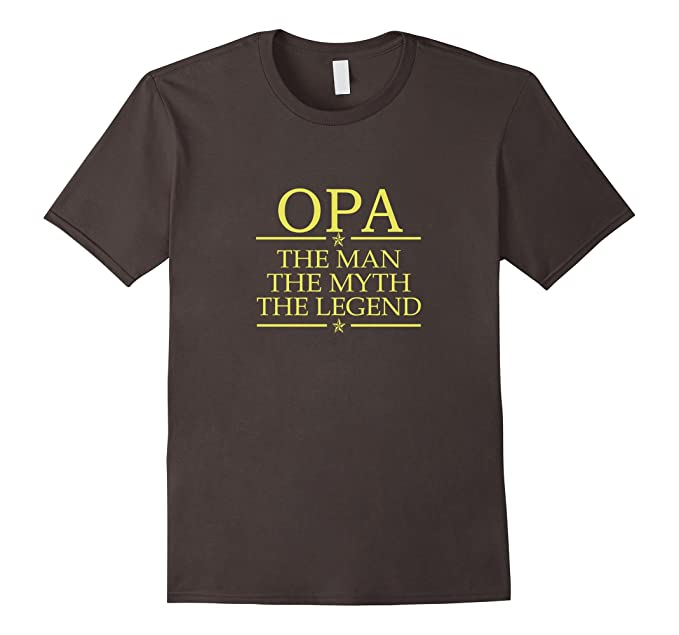 Mens Opa The Man The Myth The Legend T-Shirt 2XL Asphalt