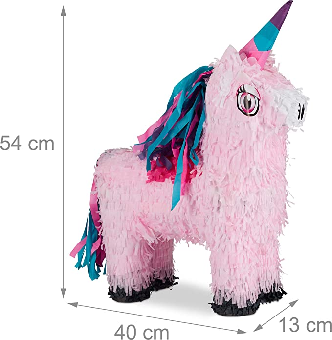 Amazon.com: Relaxdays 10026370 Pinata mágico de unicornio ...