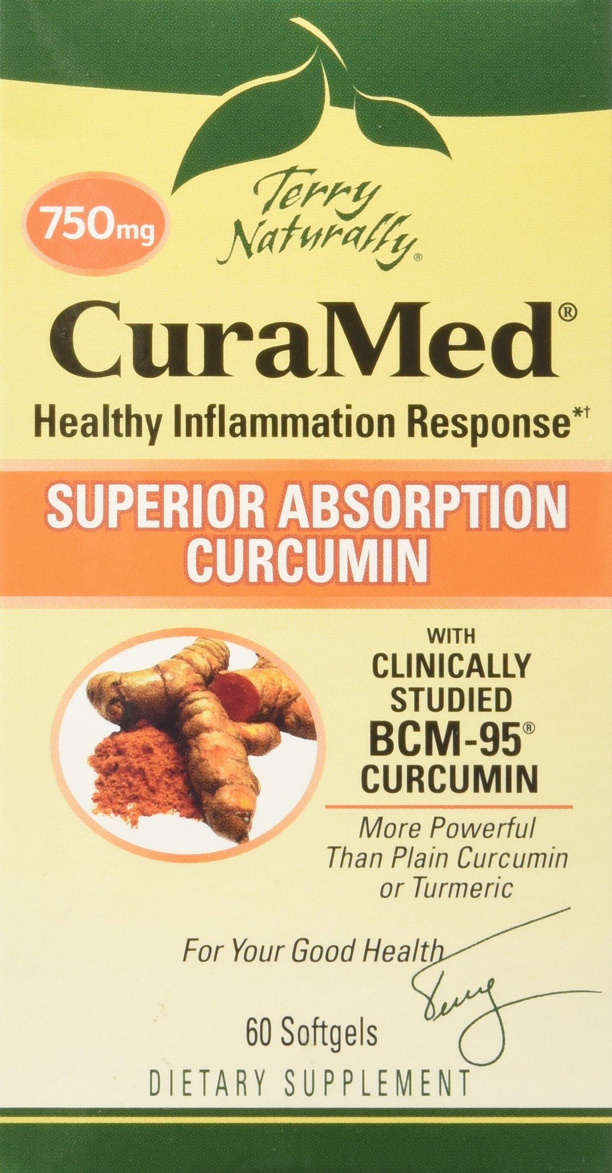 Curamed 750mg (60 SoftGelCaps) Curcumin Turmeric Brand: Terry Naturally