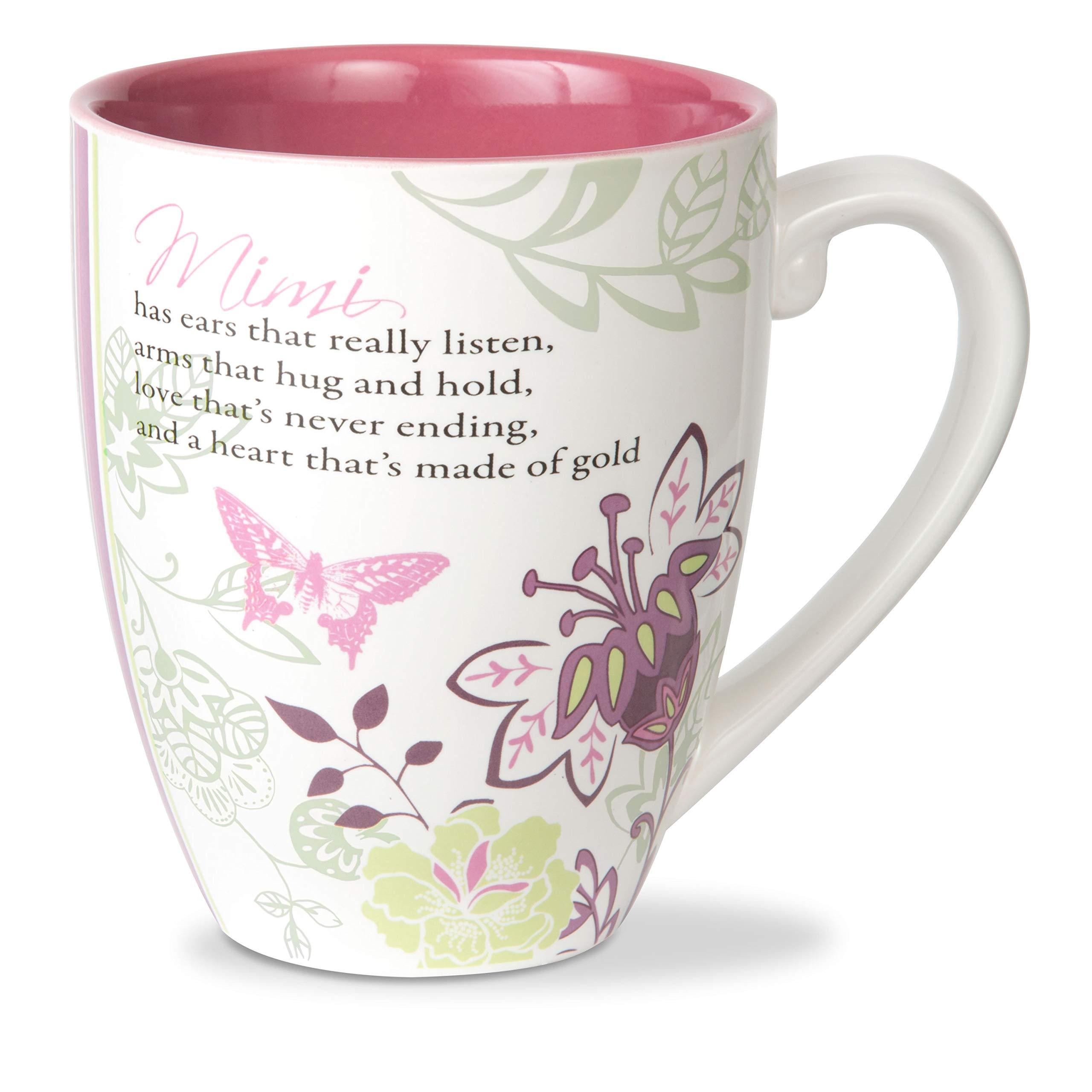 Pavilion Gift Company Mark My Words Mimi Floral Butterfly Grandma Coffee Tea Mug Large Pink Buy Online In Solomon Islands At Solomon Desertcart Com Productid 33627290