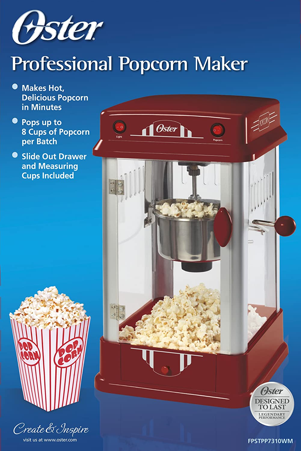 Amazon Oster Fpstpp7310wmnp Professional Popcorn Maker. Amazon Oster Fpstpp7310wmnp Professional Popcorn Maker Electric Poppers Kitchen Dining. Wiring. Oster Popcorn Wiring Schematics At Scoala.co