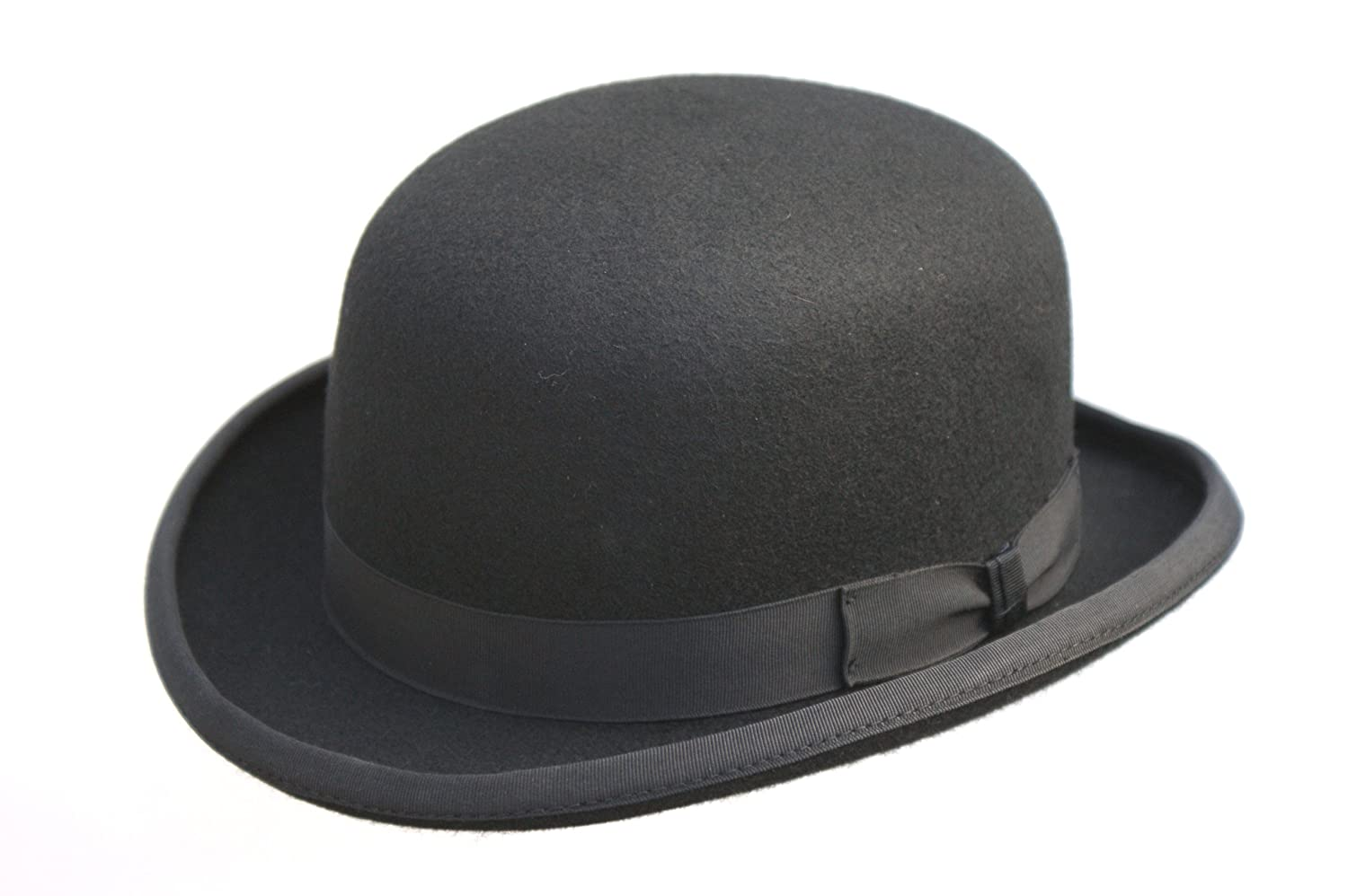 24670e12689 High Quality Hard Top 100% Wool Bowler Hat - Satin Lined - Sizes S to XL   Amazon.co.uk  Clothing