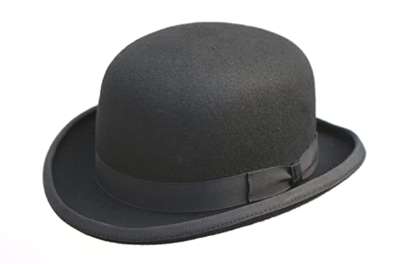 54a480dfb95 High Quality Hard Top 100% Wool Bowler Hat - Satin Lined - Sizes S ...