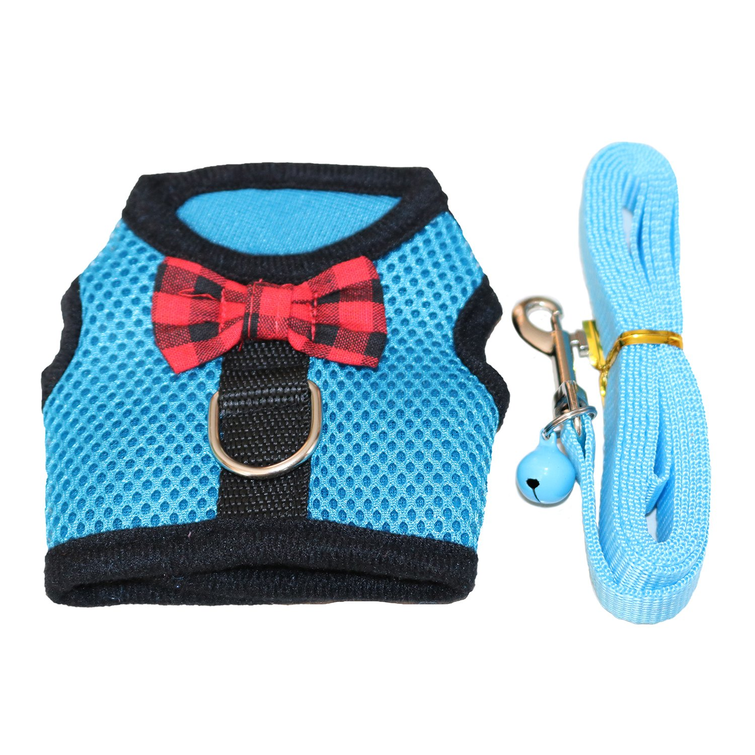 No Pull Comfort Padded Vest for Guinea Pigs RYPET Guinea Pig Harness and Leash Chinchilla and Similar Small Animals Ferret Soft Mesh Small Pet Harness with Safe Bell
